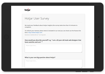 Hotjar User Surveys